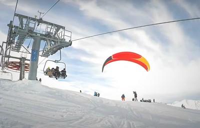 Зимние виды спорта на горнолыжном курорте Домбай